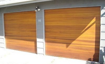 Matching Horizontal Cedar Doors